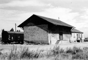 Oppau 1950 Güterbahnhof. Heutiges Gelände der Firma LIDL.