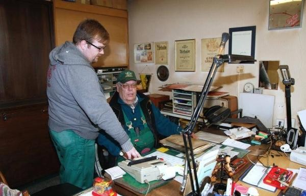 v.l. Christian und Karl Volz in ihrem Büro