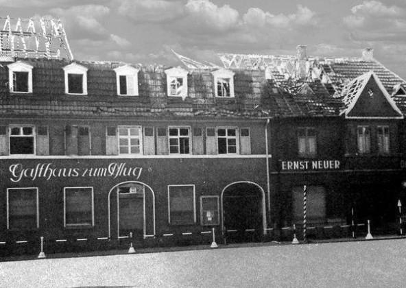 "Oppau 1941. Gasthaus ""Zum Pflug"" Kirchen-Str."