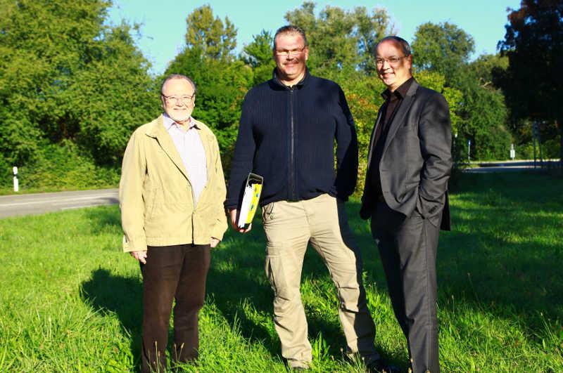 Günther Saladin, Frank Bauer und Andreas Röber (v.l.)
