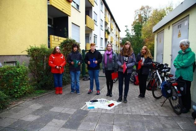 Schüler der IGS Edigheim bei ihrer Aktion
