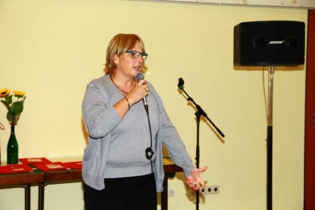 Heike Scharfenberger, Ortsvorsteherin Ruchheim, MdL, Begrüßung.