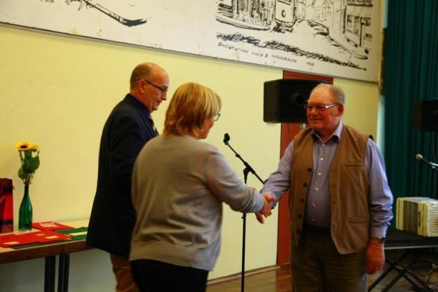 Heike Scharfenberger und Frank Meier, Mitgliederehrung - Oppau