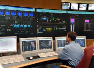 Die Verbundleitwarte der TWL AG in der Industriestraße Pressefoto: TWL
