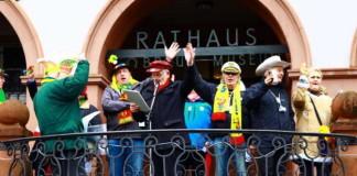 Fasnachtszug 2016 Empfang am Rathaus
