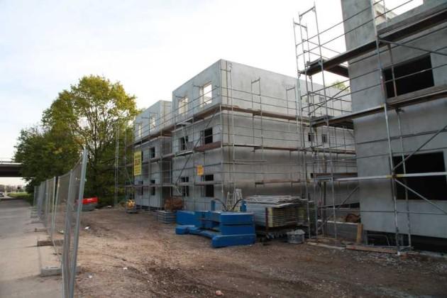 Die vier Häuser nähern sich der Fertigstellung