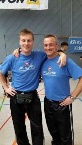 Trainer Klaus Niedermeier und Thomas Schneider