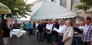 Liederkranz Sommerfest Begrüßungsständchen