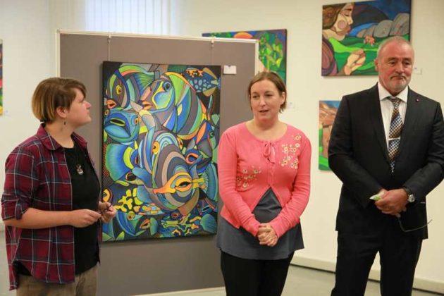 Vernissage Jennifer Fischer, Museumsleiterin Dr. Regina Heilmann , Rolf Schröder