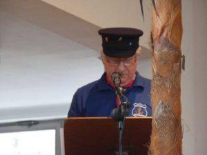 1. Vorsitzender Werner Kranz bei der Begrüßung