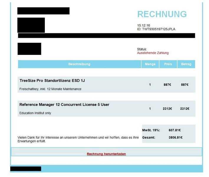 lka rp warnmeldung neue phishing welle durch falsche rechnungsstellung oppau info. Black Bedroom Furniture Sets. Home Design Ideas