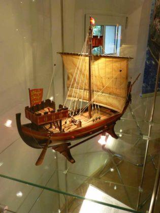 Das Normannenschiff Nef um 1220.