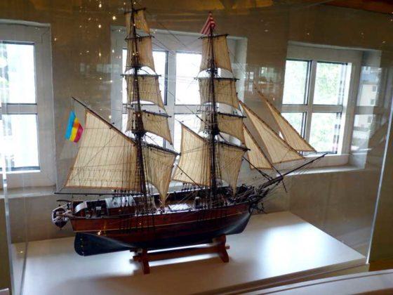 """Die Brigg """"AUGUSTE VON WISMAR"""" 1860."""