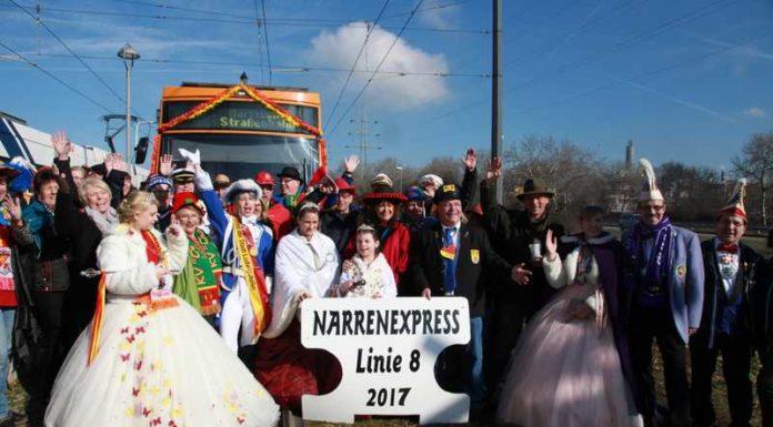 Narrenexpress 2017 abfahrtbereit