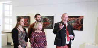 Annette Meyer, Hildegard Illies, , Govinda Christ und Rolf Schröder bei der Vernissage