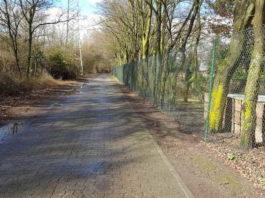 Der Weg vom Friedhof zum Bahnübergang