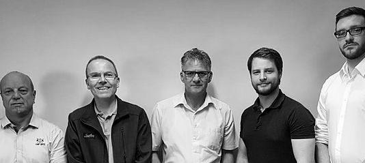 v.l.n.r. Thomas Röhr (1. Vorsitzender), Alexander Bode (2. Vorsitzender), Jürgen Baum (Finanzverwalter), Mike Baum (Programmkoordinator), Martin Schreiber (Öffentlichkeitsarbeit)