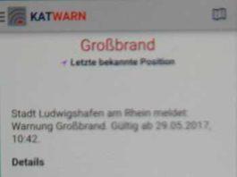 Katwarn: Großbrand in Oggersheim