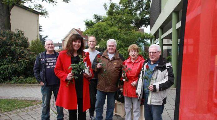 Die SPD-Mannschaft Oppau mit OB-Kandidatin Jutta Steinruck