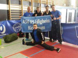 Kickboxer des ASV 05 Edigheim auf der Deutschen Meisterschaft