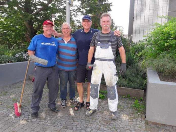 Arbeitseinsatz am Bürgerhaus Oppau
