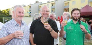 Freuen sich über das gelungene Fest: Hubert Eisenhauer, Klaus Müller und Raßkopf-Hofmann