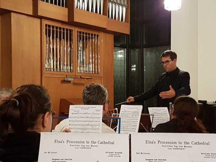 Sonderprobe des Projektorchester aus MBO Kurpfalz und MV Schifferstadt unter der Leitung von Dirigent Dominique Civilotti