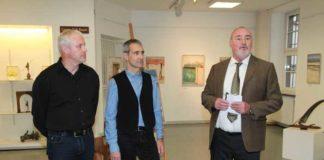 Von links: Stefan Still, Joachim Schwenkschuster und 1. Vorsitzender Rolf Schröder bei der Begrüßung.