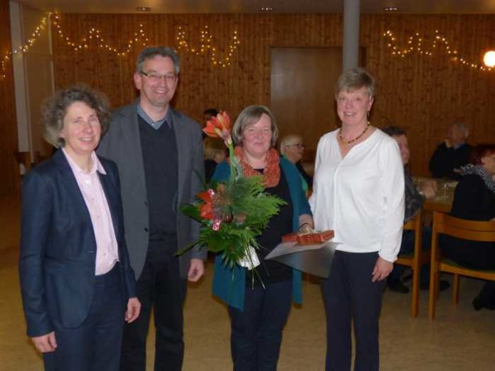 Susanne Oestreicher, Pfarrer Christian Eiswirth, Birgitta Schlimm, Ulla Jöckel