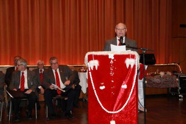 1. Vorsitzender, Klaus Müller Begrüßung