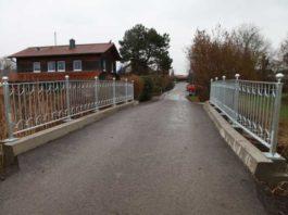 Neues Geländer an der Bocksbrücke