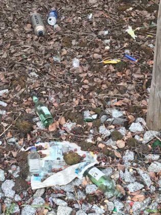 Müllablage Marktplatz Edigheim