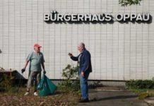 Frühjahrsputzaktion am Bürgerhaus Oppau