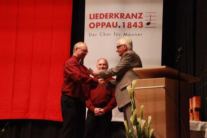 Hans Oberlies, Vorsitzender des Kreischorverbandes Vorderpfalz Herr