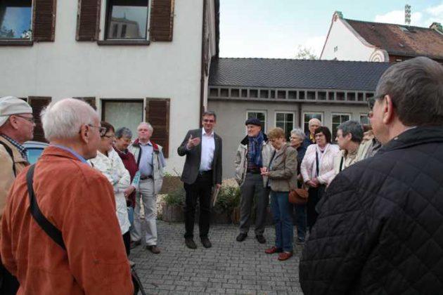 Pfarrer Christian Eiswirth berichtet über die St. Martinskirche.