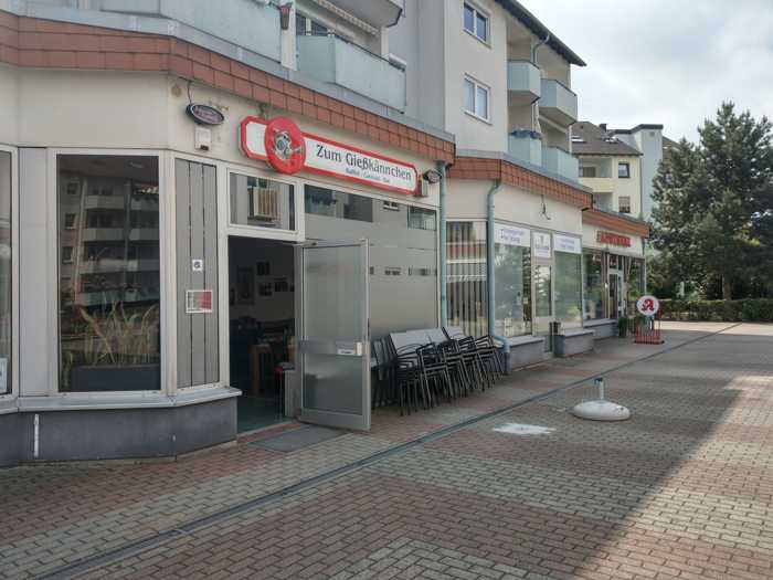 Eingang der Bar über Giselherplatz