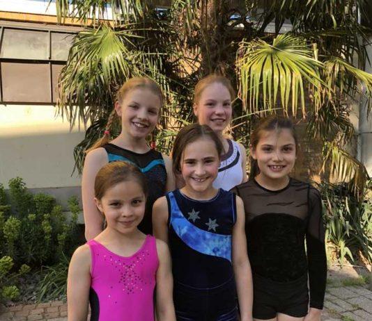 Unsere Gaumeisterinnen 2018: Katharina Binzer, Charlotte Theobald, Valentina Zigler, Julia Theiss, Chiara Secci