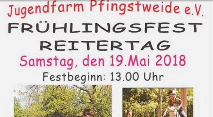 Plakat Frühlingsfest Jugendfarm 2018