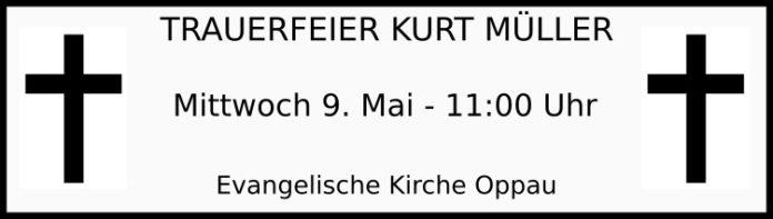 Trauerfeier Kurt Müller