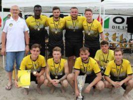 Das Siegerteam im Beachsoccer-Regionalentscheid