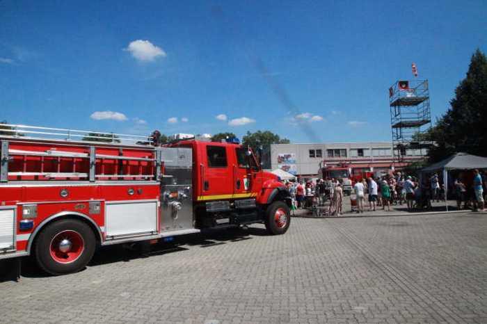 Befreundete Feuerwehr der US-Army aus Germersheim