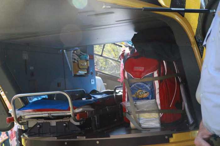 Blick in den Rettungshubschrauber Christoph 5