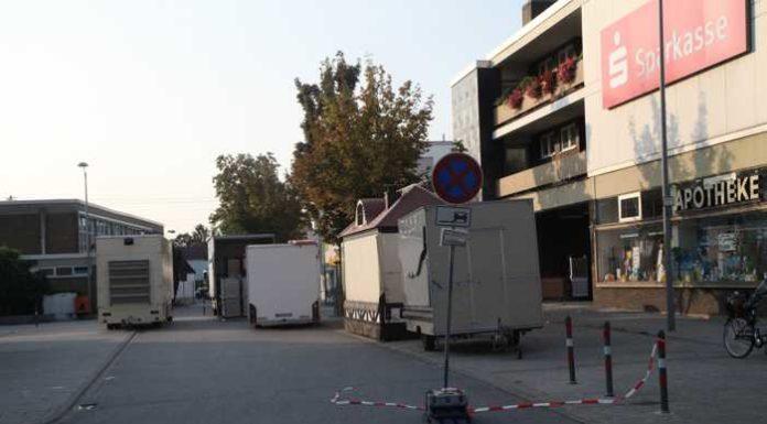 Seit Dienstag Abend ist der Marktplatz gesperrt