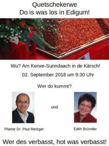 Zweisprachiger Kerwegottesdienst am Sonntag @ Protestantische Kirche | Ludwigshafen am Rhein | Rheinland-Pfalz | Deutschland