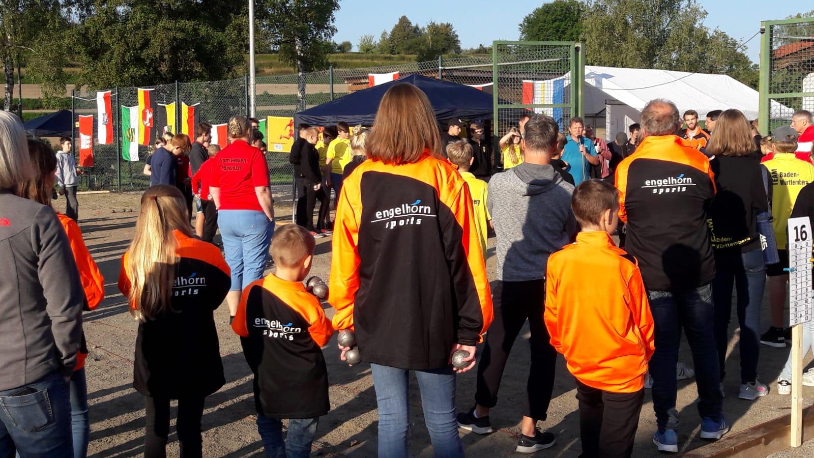 Eröffnung der DM Jugend Petanque in Ettenheim. 234 Teilnehmer aus 10 Landesverbänden!