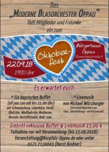 Oktoberfest des MBO Kurpfalz Oppau @ Bürgerhaus Oppau | Ludwigshafen am Rhein | Rheinland-Pfalz | Deutschland