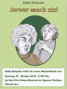 Das neue Mundartbuch von Edith Brünnler