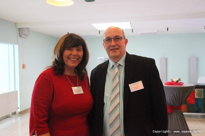 Jutta Steinruck und Frank Meier, Ortsvorsteherkandidat