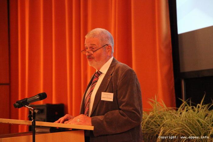 Hubert Eisenhauer, Vorsitzender der ARGE Oppau und des Fördervereins Bürgerhaus Oppau