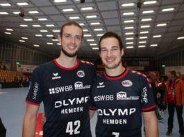 Die ehemaligen Eulen-Spieler Patrick Weber und Dominik Claus (rechts) erzielten jeweils zwei Tore beim Auswärtssieg von Bietigheim